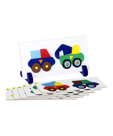 Love this Construction Truck Sort & Match Puzzle Set by Guidecraft on #zulily! #zulilyfinds, on amazon too