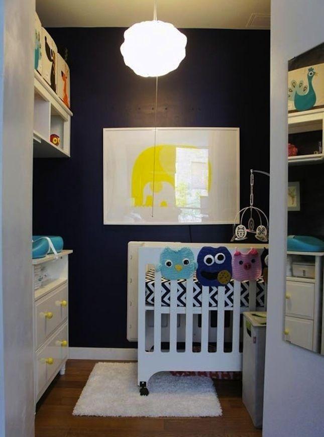 Turn a closet into a nursery.