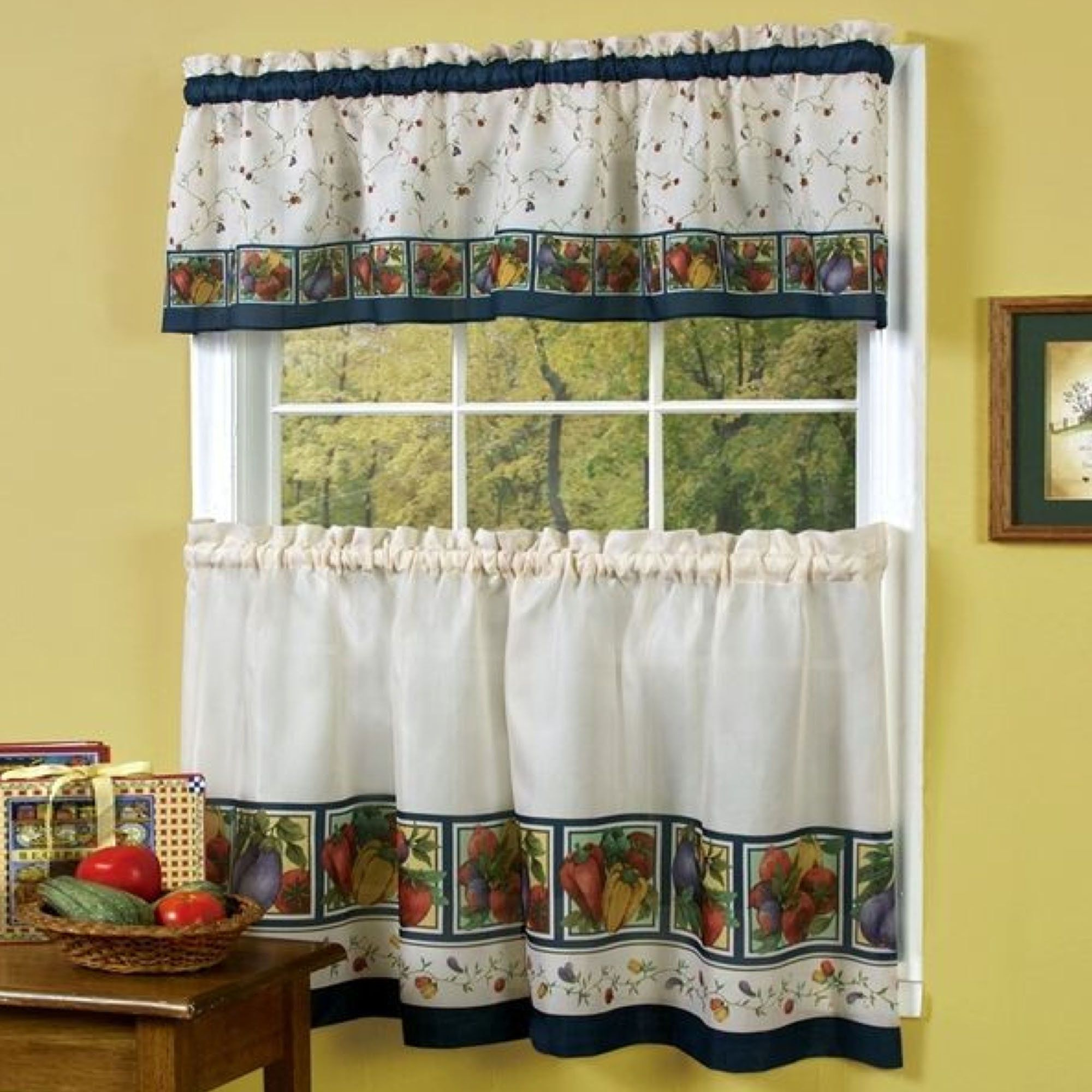 Pin On Kitchen Kitchen curtains with fruit design