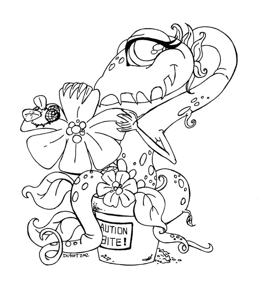 Adoptable Shy Venus Fly Trap By Jadedragonne On Deviantart Animal Coloring Pages Halloween Coloring Pages Venus Fly Trap
