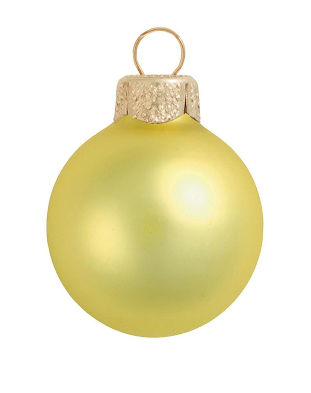 Matte Soft Yellow Glass Ball Christmas Ornament 7 180mm Glass Christmas Balls Christmas Balls Ornaments