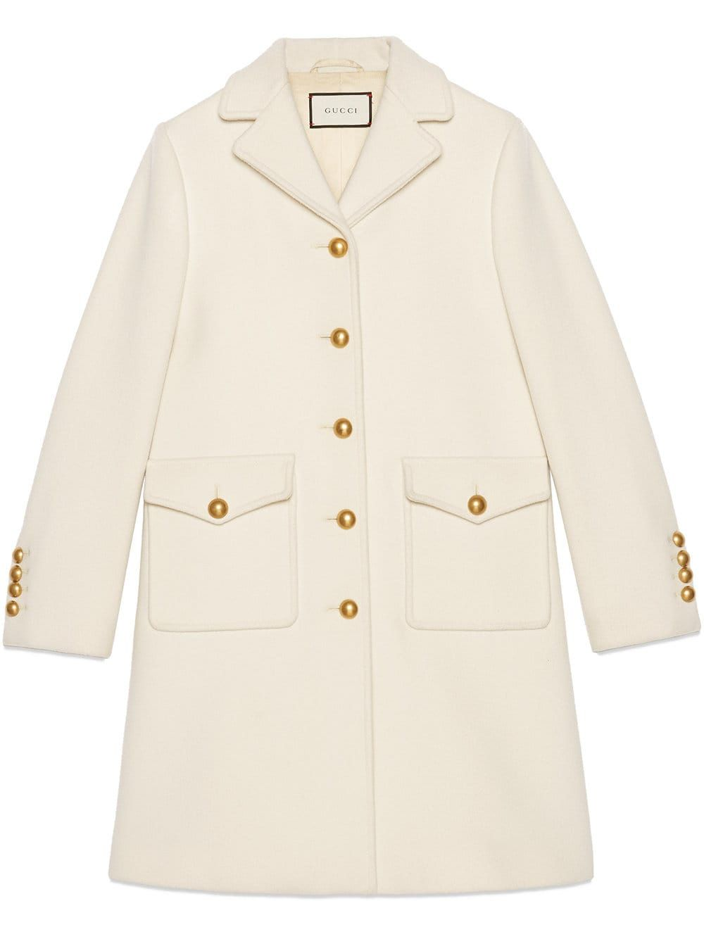 Gucci Wool Coat With Double G Farfetch In 2021 Coats For Women Wool Coat Coat Design [ 1334 x 1000 Pixel ]