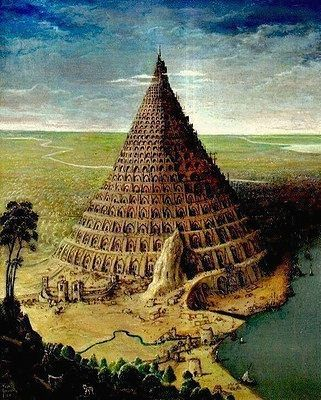 The Tower Of Babel Paint By The Belgian Artist Paul Gosselin