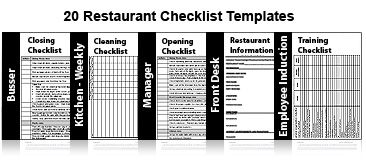 Restaurant Task List  Restaurant Cleaning Checklist  Signs