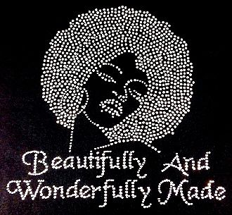 Iron on Rhinestone Transfer Hot Fix Bling Fearfully and Wonderfully Made