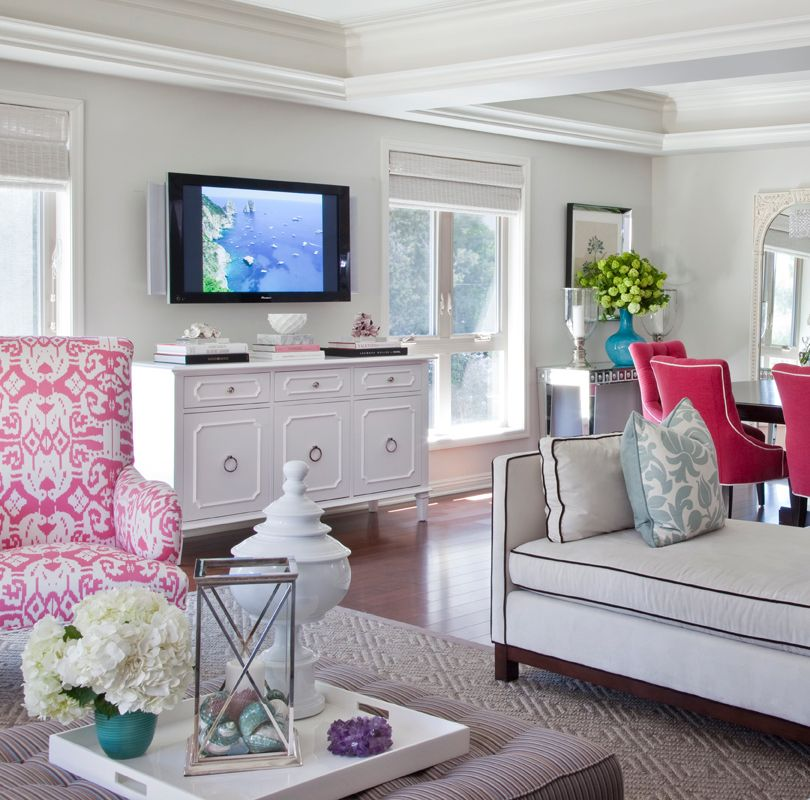 Pink Living Room Chairs. Room ideas white  pink decor Decor Inspiration Pinterest Chic living