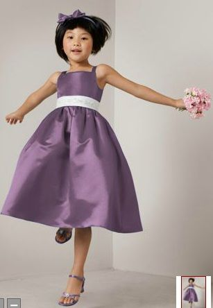 Love this for our flower girls! Matches the purple/plum of the bridesmaids dresses, but more toned down and appropriate.