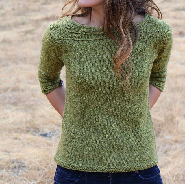 Sprig Pattern by Alana Dakos. Those shoulders! | Knitting/Crochet ...