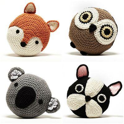 Peanut Butter Dynamite Crochet Animal Pillows Crochet
