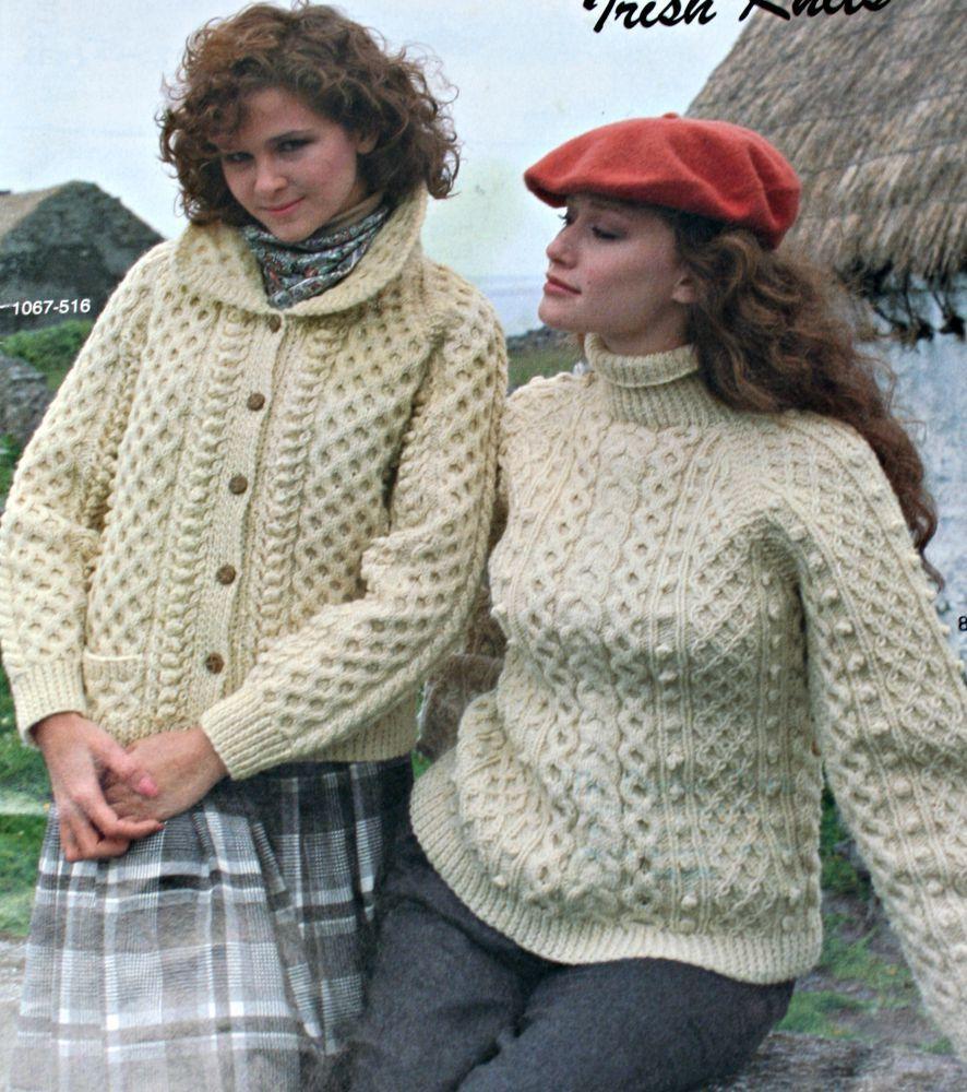 Aran Knitting Patterns Sweaters Cardigans Irish Knits ...