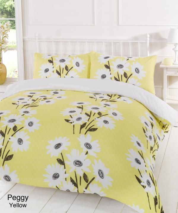 Yellow Duvet Cover Peggy Yellow Double Duvet Cover Bedding Set Bedding And Curtains Yellow Bedding Sets Bedding Sets Bed