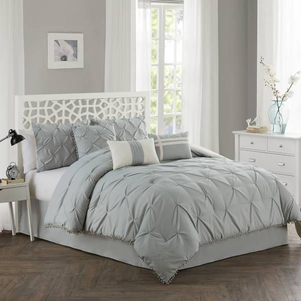 Spice up your bedroom  cor with the fun and fabulous pom comforter set in  soft microfiber face plush bedding boasts kiss pleated also shop target for you will love at great low prices