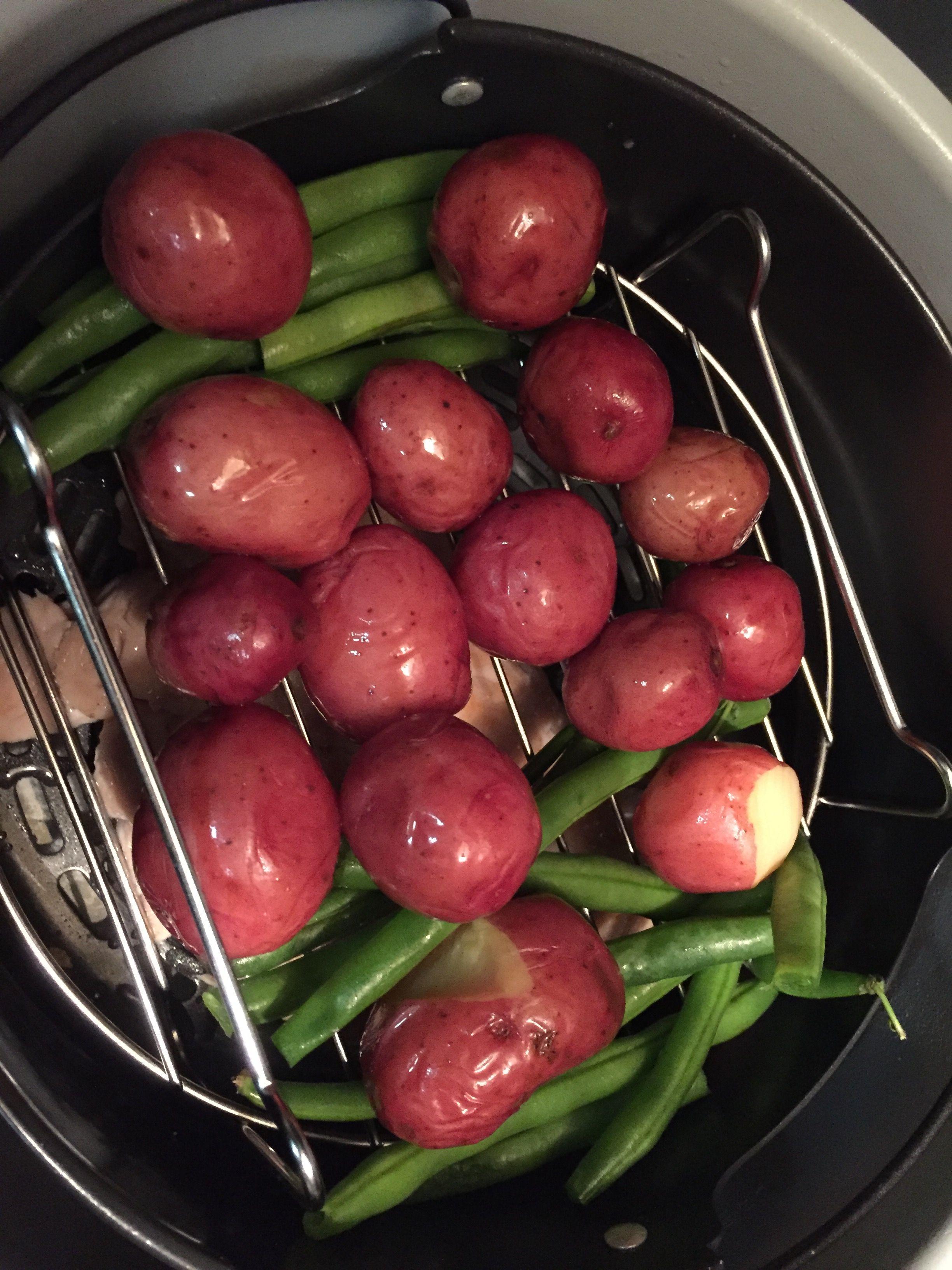 Baby Red Potatoes Turkey Beans Gravy In Ninja Foodi