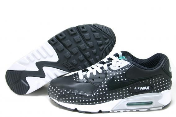 Nike Air Max 90 Premium+ Square Polka Dot Black 315908 001