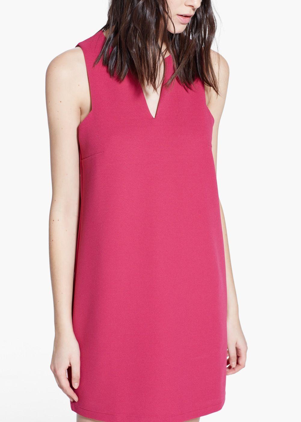 Vestido textura rayas - Mujer | Textura