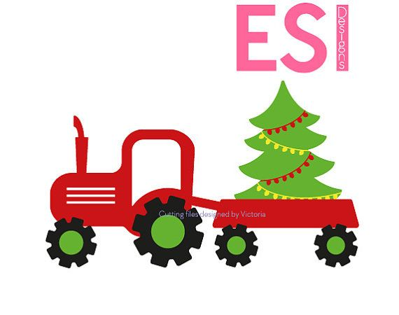 Truck and Christmas tree SVG DXF EPS by ESIdesignsdigital on Etsy