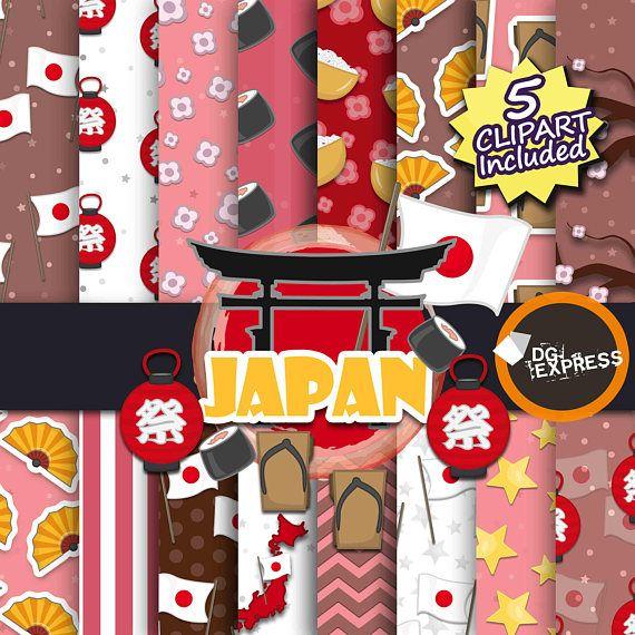 japan clipart digital paper japan digital digital papers rh pinterest com Cute Scrapbooking Clip Art Scrapbook Frames Clip Art