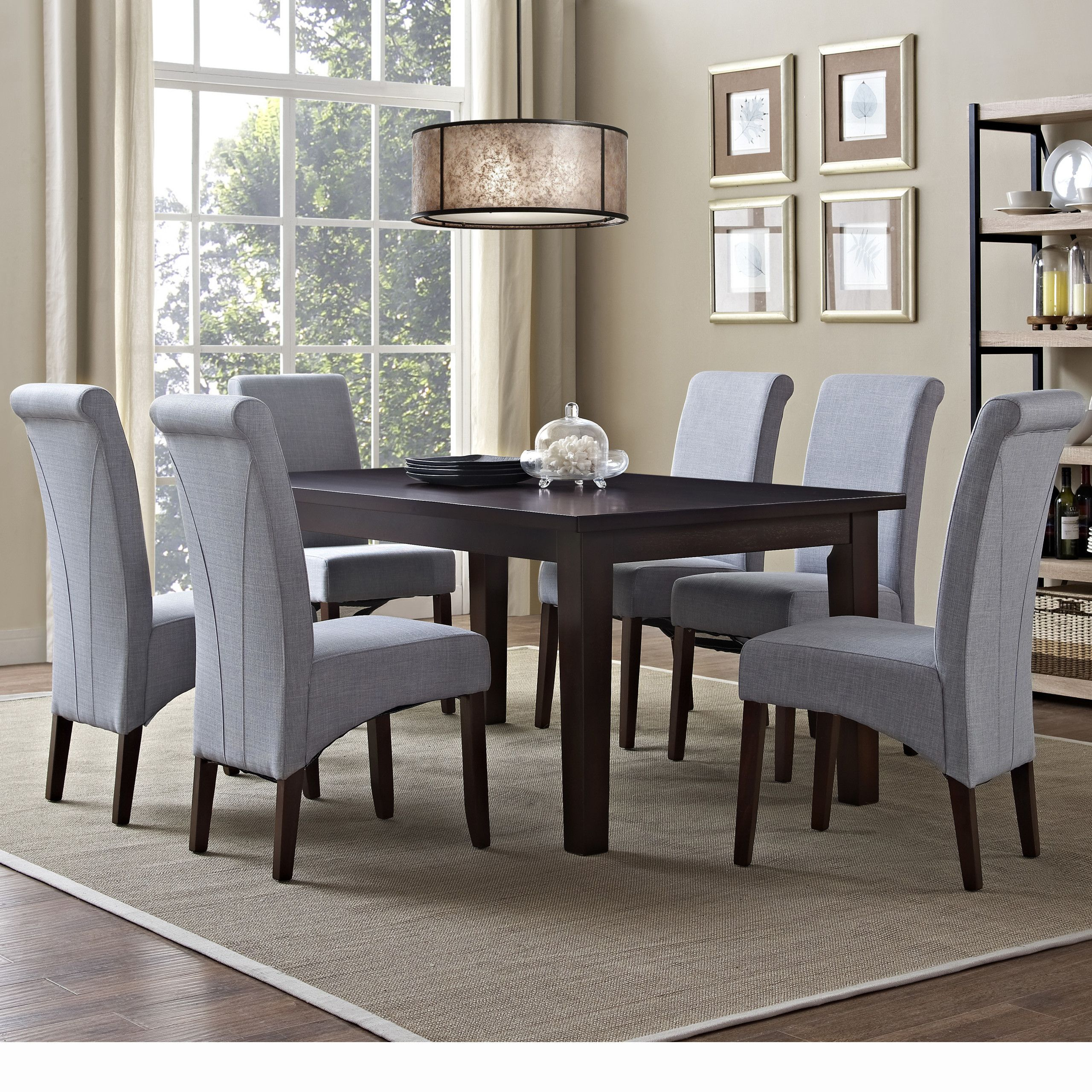 Simpli Home Avalon 7 Piece Dining Set