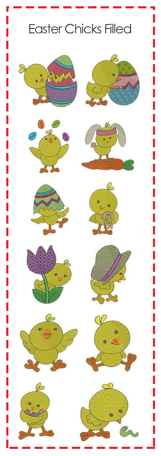 12 ADORABLE Easter chicks for your Spring and Easter projects || Little Easter Chickies filled #DesignsbyJuJu