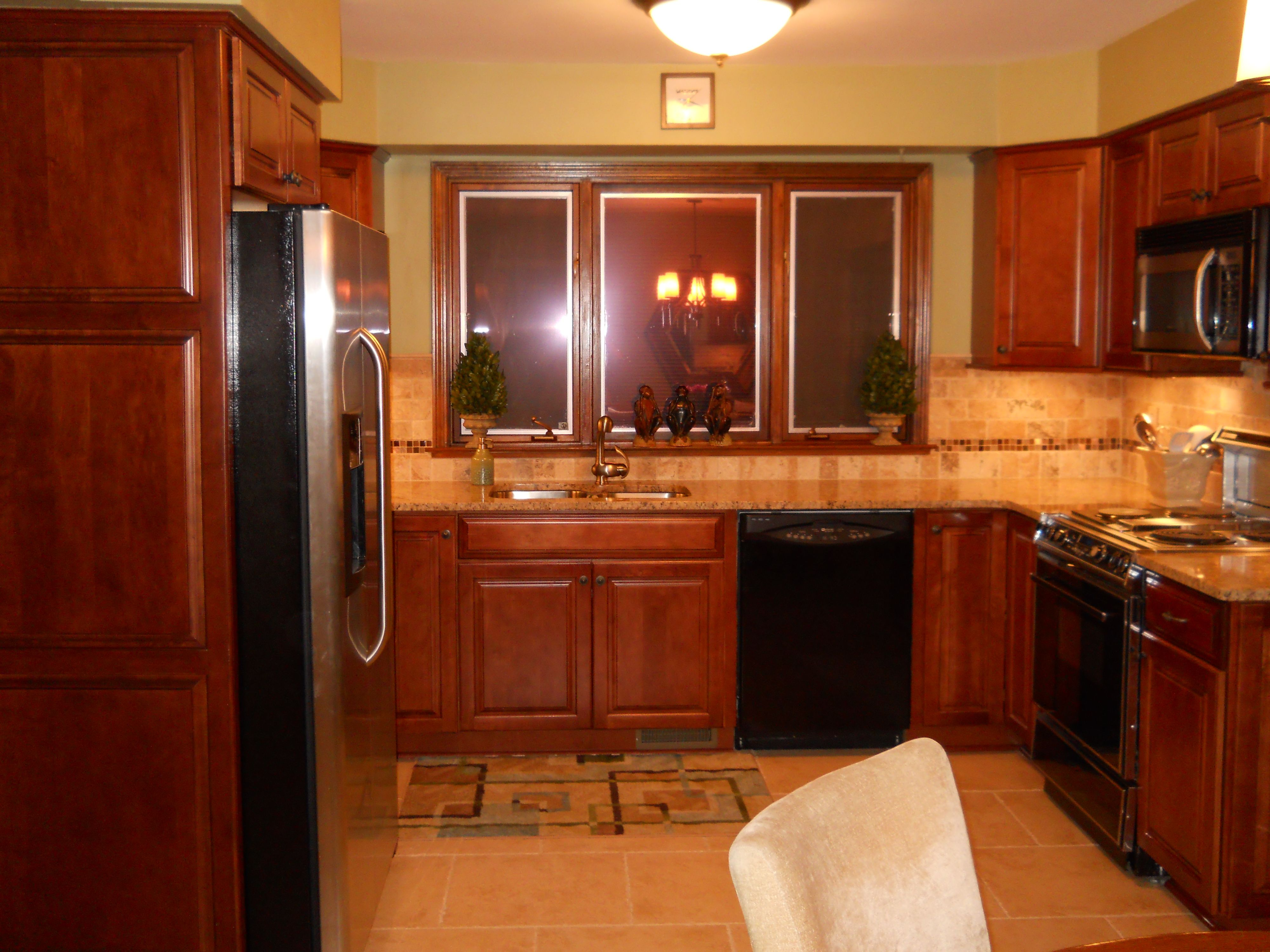 Chestnut stain cabinets kitchen pinterest stains for Chestnut kitchen cabinets