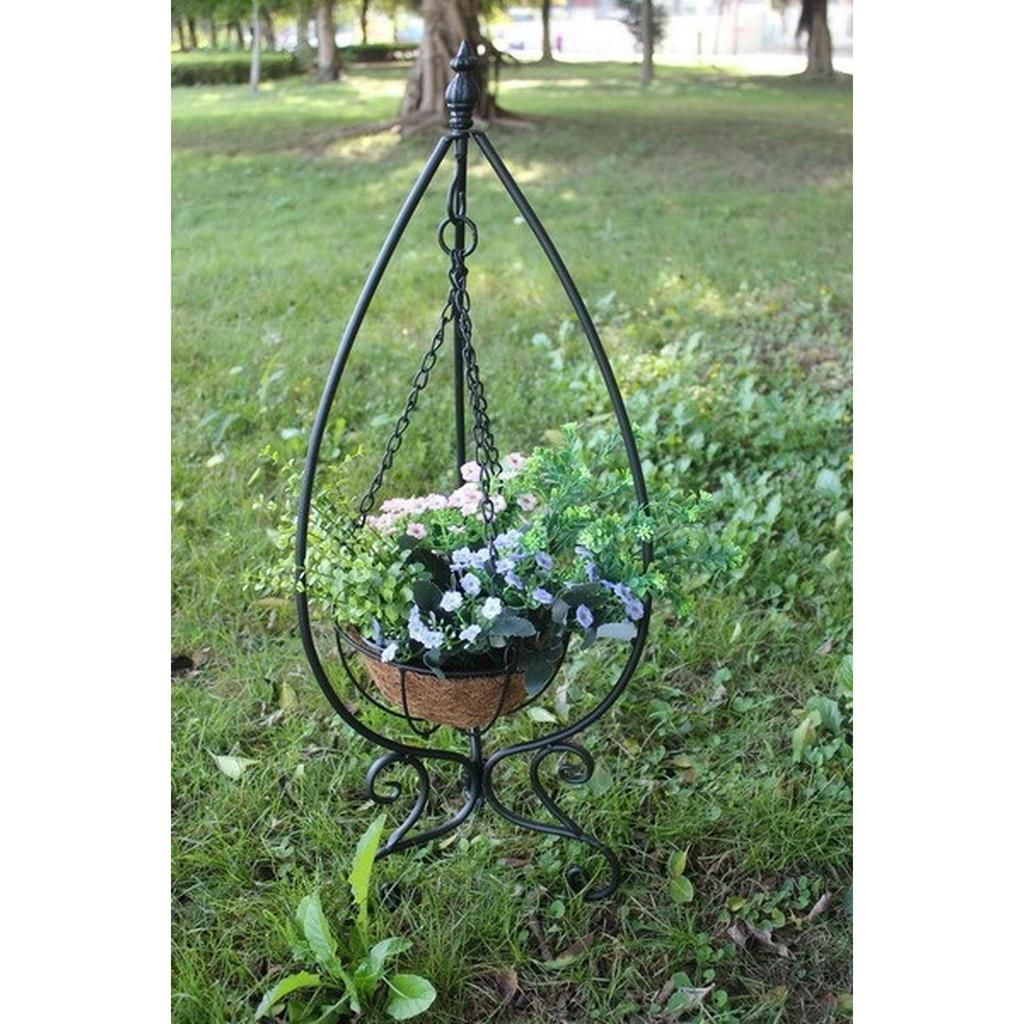 4500 Metal Plant Stand Hanging Basket In Stand