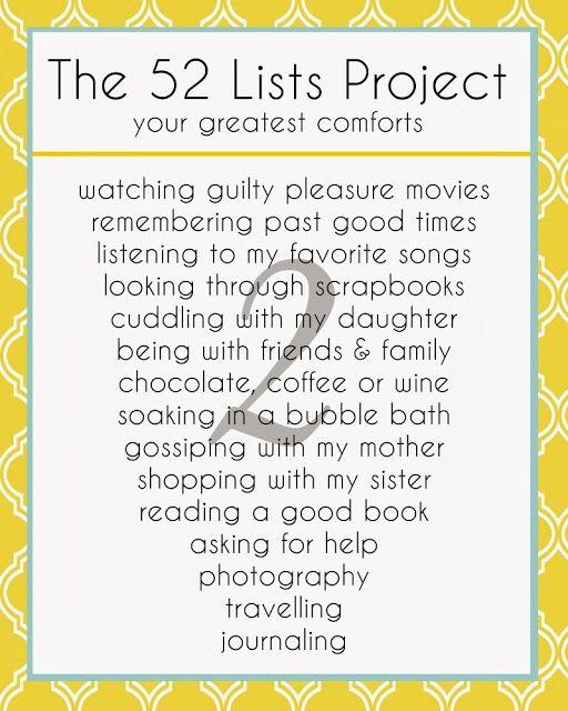 The 52 Lists - Week 2