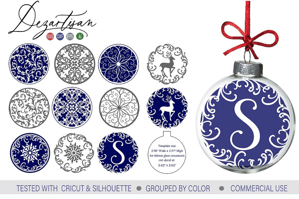 Fancy Christmas Snowflake Floating Ornament Designs