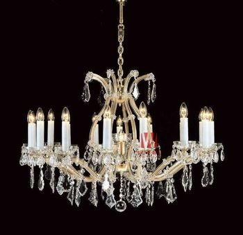 17 lights gold candle crystal chandelier lighting classic bedroom chandelier trendy bedroom chandelier C9253 102cm W x 112cm H