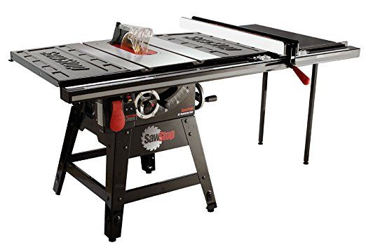 Sawstop Cns175 Tgp36 1 3 4 Hp Contractor Saw With 36 Inch Professional T Glide Fence System Inclu Contractor Table Saw Best Table Saw Woodworking Ideas Table