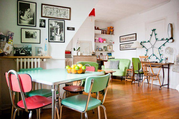 Une grande pièce à vivre : Un petit appart\' rempli d\'objets vintage ...
