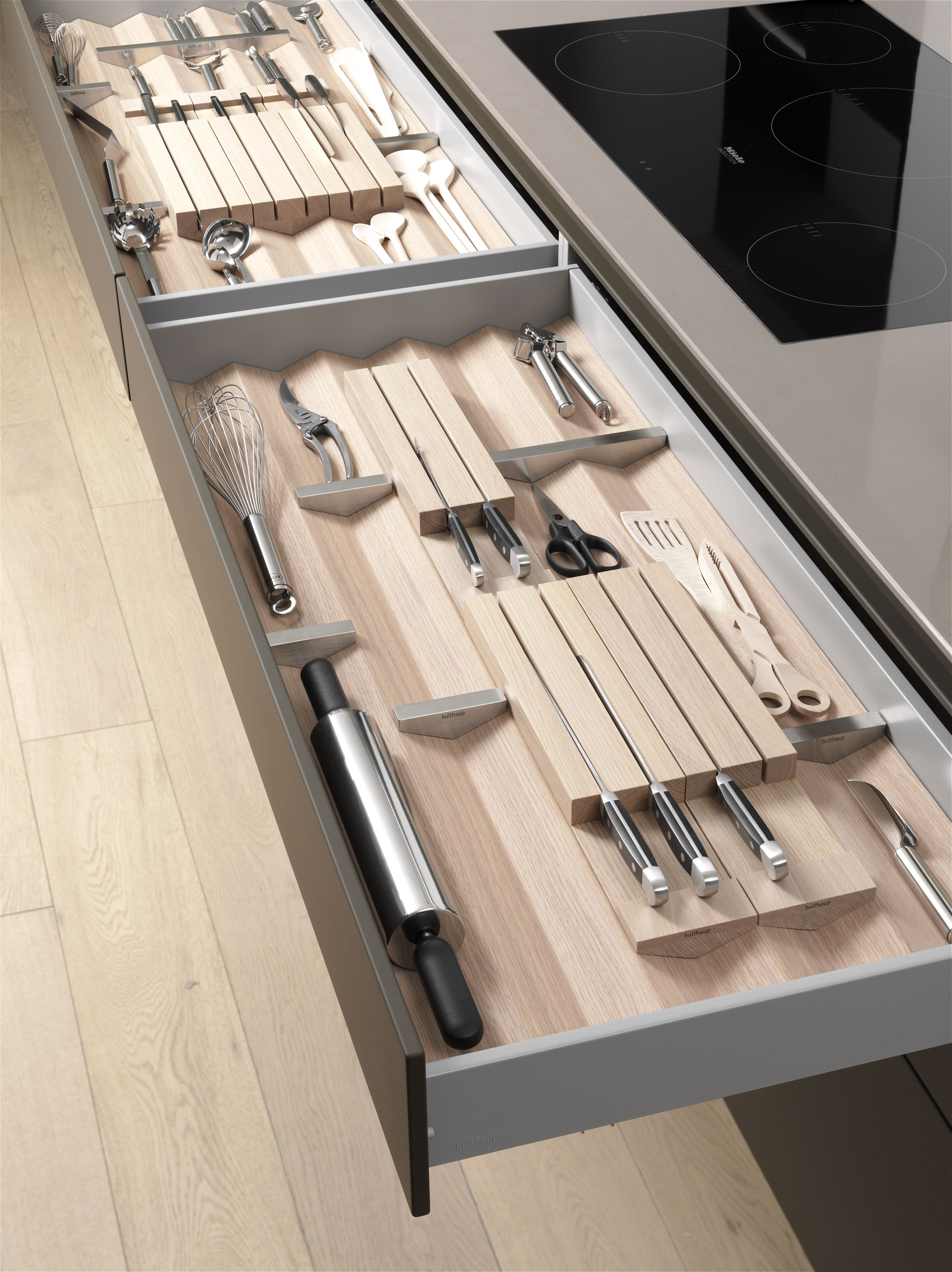 Bulthaup Drawers Www Bulthaupsf Com Design Kitchen Bulthaup Kitchen Utensil Storage Kitchen Drawers Kitchen Organization Diy