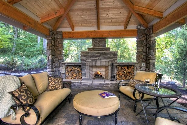 Creative Fire Pit Ideas For The Cabin Outdoor Living Rooms Rustic Patio Patio Design