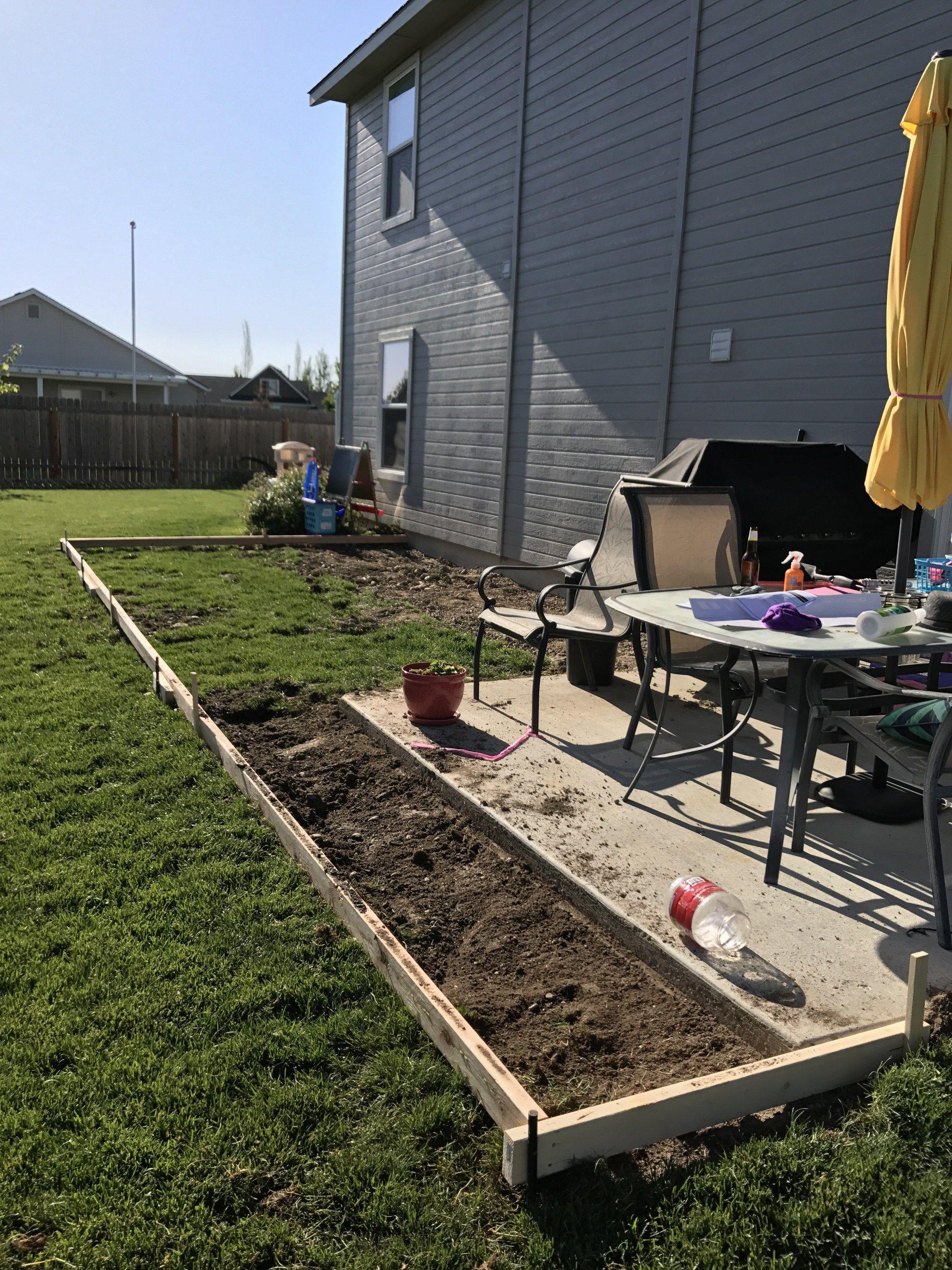 DIY Concrete Patio Extension Three Clementines Diy