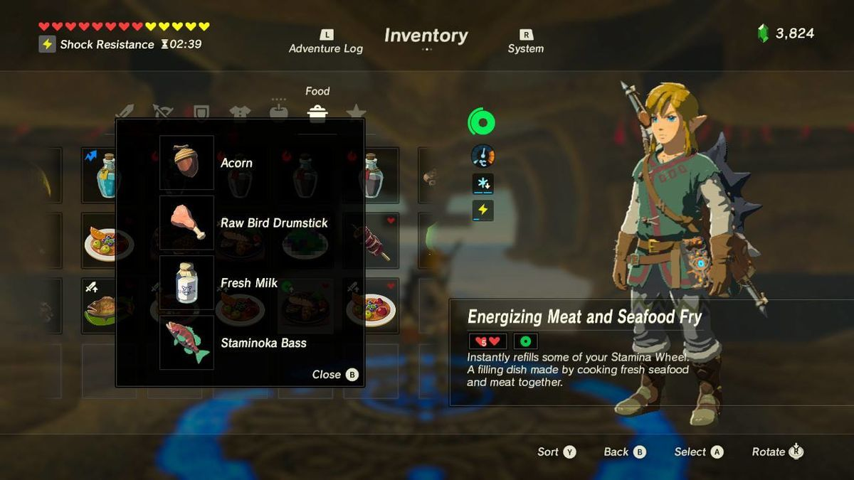 Full Legend Of Zelda Breath Of The Wild Recipe Book With Meals