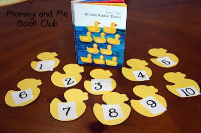 Mommy And Me Book Club 10 Little Rubber Ducks Eric Carle Activities Eric Carle Learning Abc