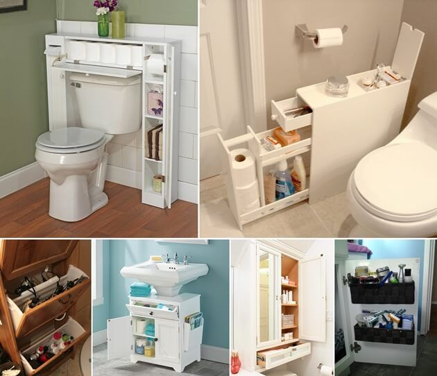 10 Space Saving Storage Ideas For Your Bathroom Http Www Amazinginteriord Apartment Bathroom Design Small Apartment Bathroom Storage Small Apartment Bathroom