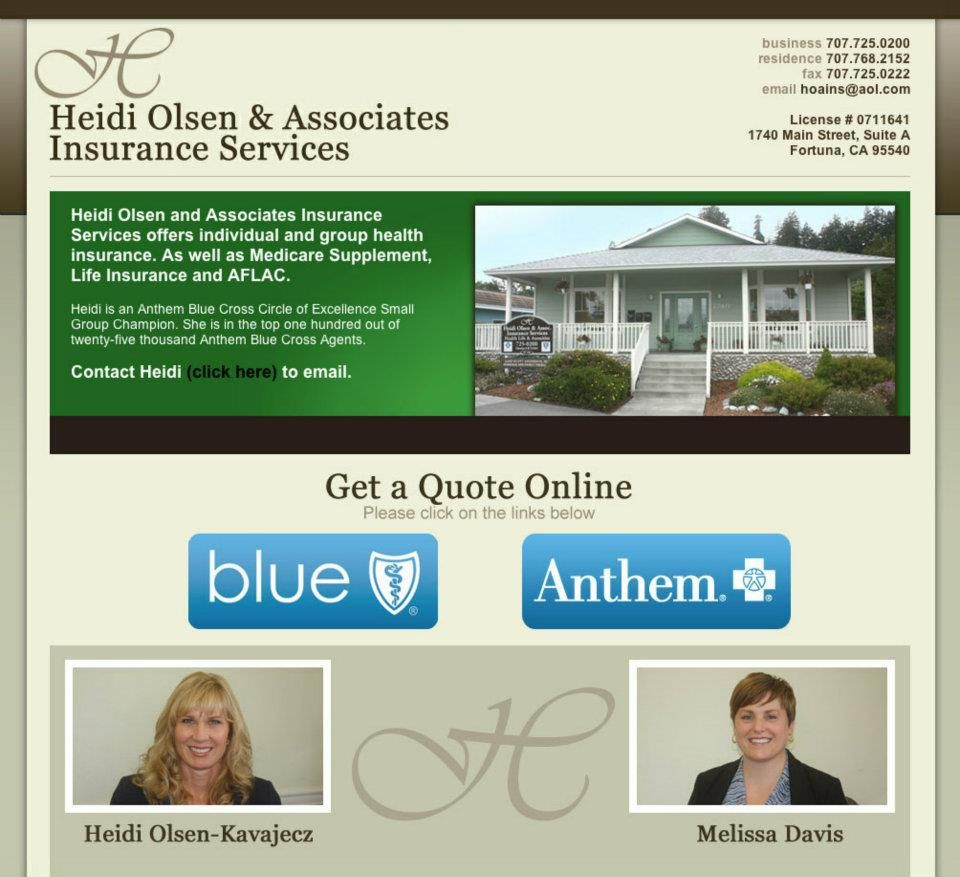 Heidi Olsen And Associates Insurance Services Offers Individual