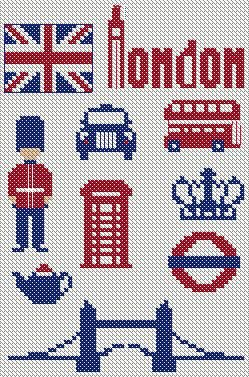 God Save The Queen Free Motifs Anglais Cross Stitch