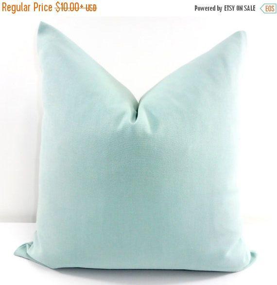 SALE Blue Pillow Cover Village blue Solid Pillow Cover Sofa