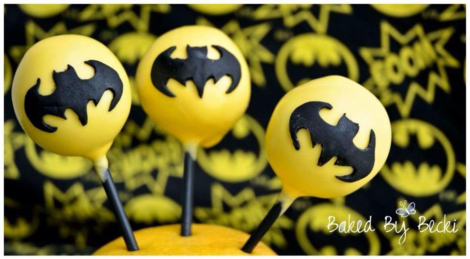 Batman pops with images cake pops pop baking
