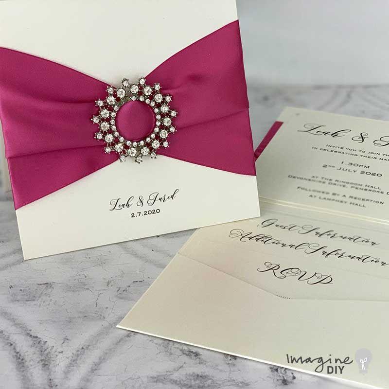 how to make  diy luxury pocket invitations  imagine