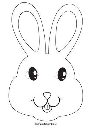 Maschere Da Coniglio Per Bambini Da Stampare Pasqua Pinterest