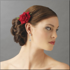 Might want my hair done like this.. or at least with a flower like this