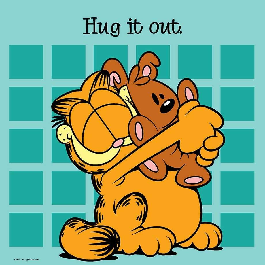 Pooky Needed A Hug There Now I Feel Better Garfield And Odie Garfield Cartoon Garfield