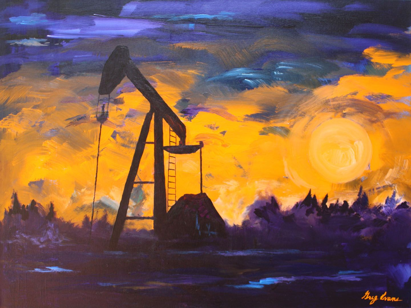 Oil And Gas Art Of Greg Evans Artwork In
