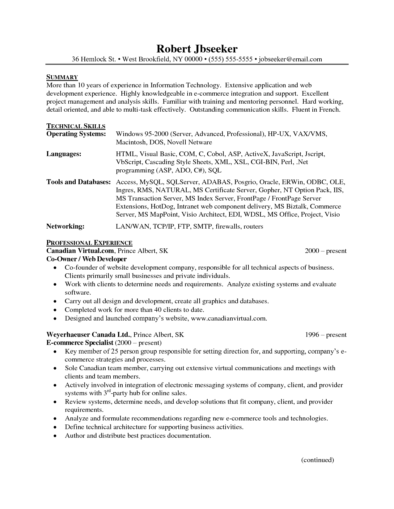 resume templates - Resume Sample Doc