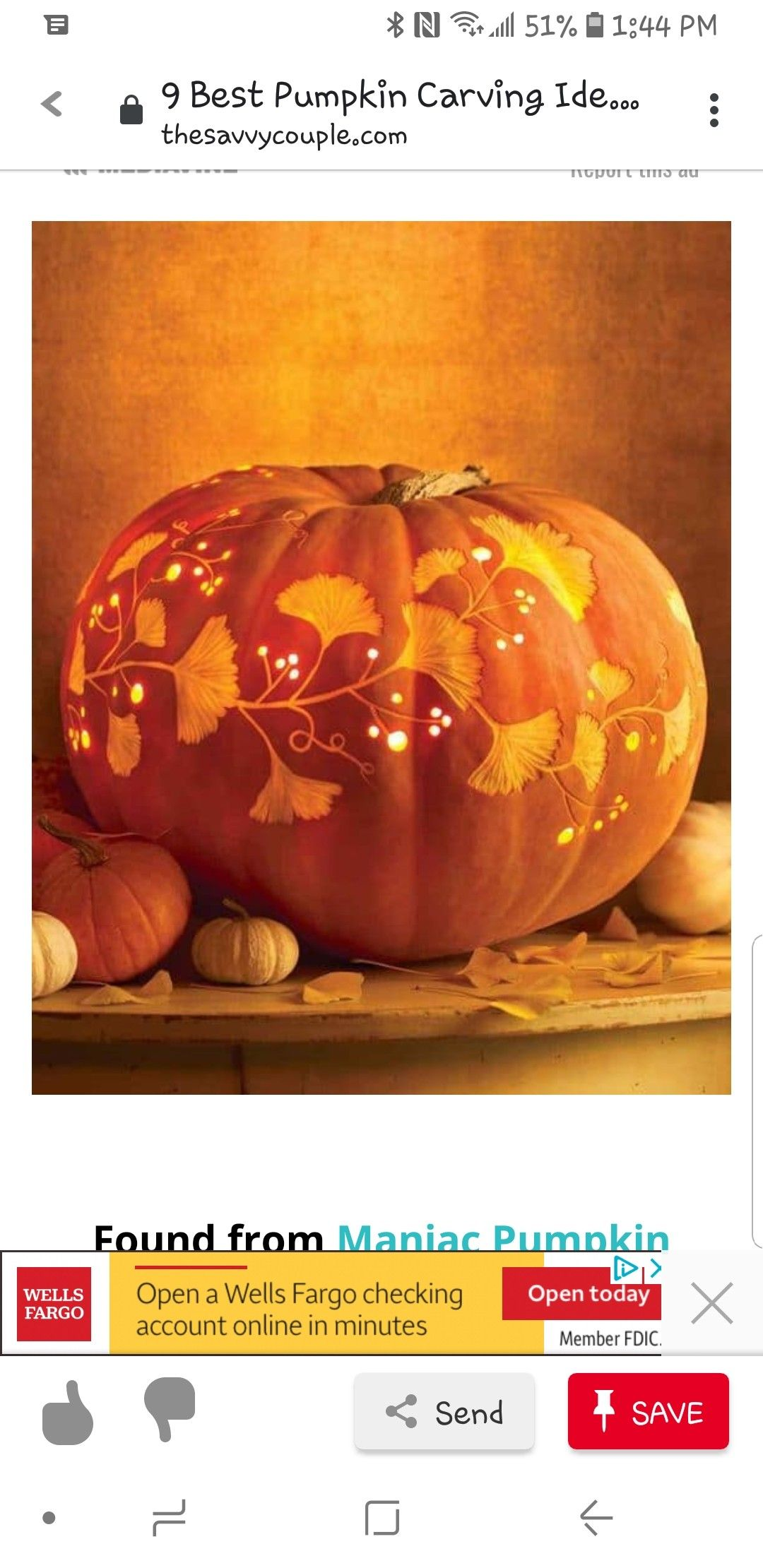 Pin By Summer Schofield Spinello On Halloween Costumes Pumpkin Carving Pumpkin Wells Fargo Checking