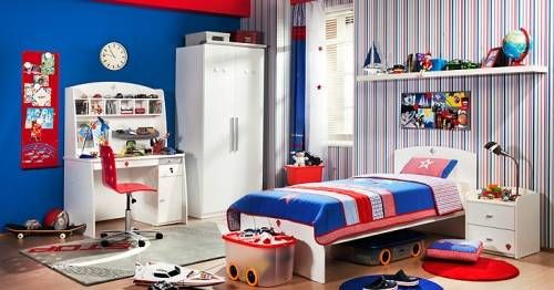Boys Room With White Furniture Home Designs Wallpapers Kids