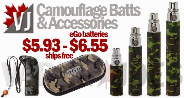 Camouflage eGo Style Batteries & Accessories