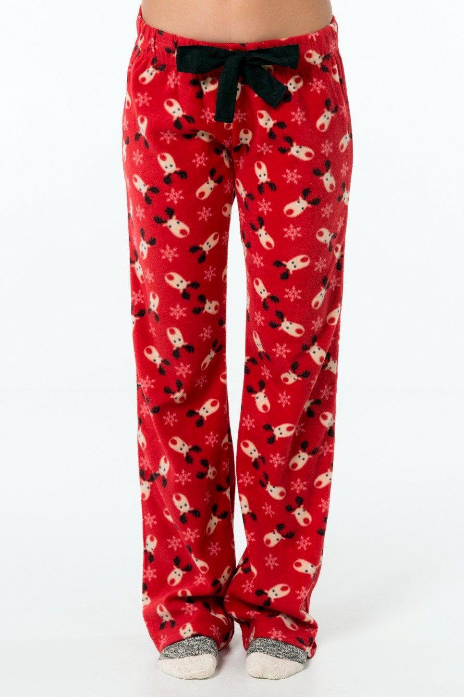 Women's Pajama Pants Fleece Pajama Pants Sleepwear PJ Pants Red ...